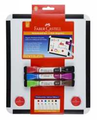 WHITEBOARD SET FABER-CASTELL 2 SIDED INCLUDES MARKERS WITH ERASE