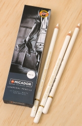 PENCILS CHARCOAL MICADOR FOR ARTISTS WHITE PK12
