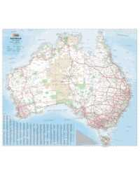 MAP HEMA AUSTRALIA WALL LAMINATED IN TUBE 1000X875