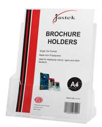 BROCHURE HOLDER JASTEK WALL MOUNTABLE SINGLE TIER A4