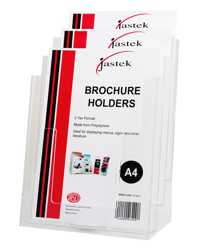 BROCHURE HOLDER JASTEK WALL MOUNTABLE  A4 3 TIER
