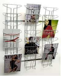 BROCHURE/MAGAZI NE HOLDERS ALBA WIRE WALL MOUNTED DISPLAY 21TIER