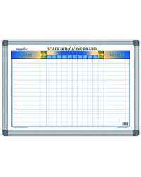 STAFF INDICATOR BOARD A2 DEBDEN WRITERAZE 420MMx600MM MAGNETIC