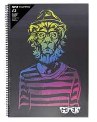 VISUAL ART DIARY GEEK A3 HIPSTAR LION 110GSM 120PG