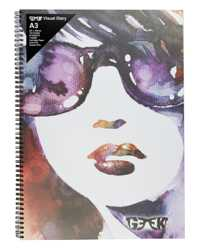 VISUAL ART DIARY GEEK A3 GIRL IN SHADES 110GSM 120PG