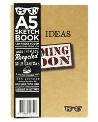VISUAL ART DIARY GEEK A5 MILK CARTON SKETCHBOOK IDEAS 80GSM 120P