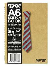 VISUAL ART DIARY GEEK A6 MILK CARTON SKETCHBOOK PREPPY TIE 80GSM