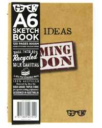 VISUAL ART DIARY GEEK A6 MILK CARTON SKETCHBOOK IDEAS 80GSM 120P