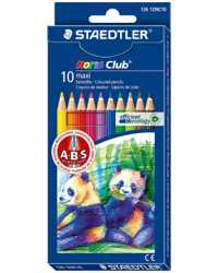 PENCIL COLOURED STAEDTLER NORIS CLUB MAXI  LEARNERS PK10