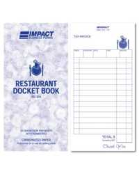 RESTAURANT DOCKET BOOK IMPACT 100x195MM TRIPLICATE RD304