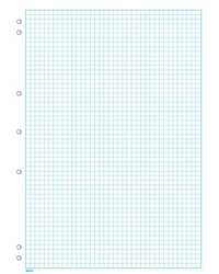 GRAPH PAD A4 5MM IMPACT 7 HOLE PUNCHED 25 SHEETS