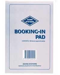 BOOKING IN PAD ZIONS