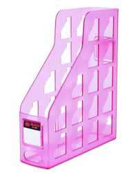 MAGAZINE FILE RACK METRO 3462 FROSTED STRAWBERRY