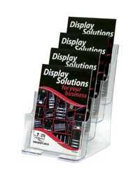 DEFLECT-O BROCHURE HOLDER 4 TIER A5