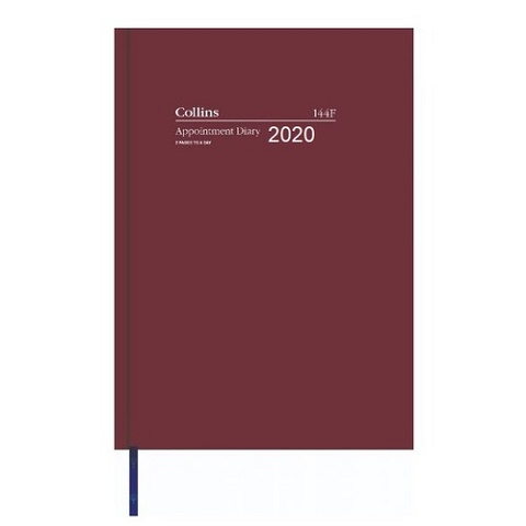 DIARY 2020 APPOINTMENT COLLINS A4 #144F A4 2PTD 15MIN BURGUNDY