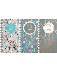 DIARY 2019 UPWARD A6/A7 WIRE WTO ASSORTED DESIGN 6436