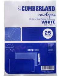 ENVELOPE C5 229x162MM CUMBERLAND WHITE POCKET STRIP SEAL PK25