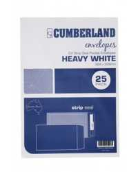 ENVELOPE C4 324x229MM CUMBERLAND WHITE POCKET STRIP SEAL PK25