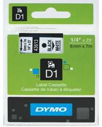 DYMO TAPE D1 6MM X7M BLACK ON WHITE