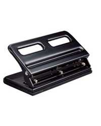 Hole Punch Colby 3 Hole Adjustable Heavy Duty KW963 Black Kwtrio