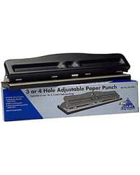Hole Punch Colby 3 Or 4 Hole Adjustable Black Putty