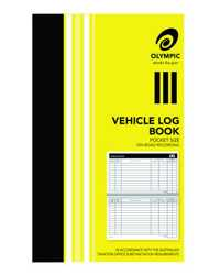VEHICLE LOG BOOK OLYMPIC 180x110MM 64 PAGES