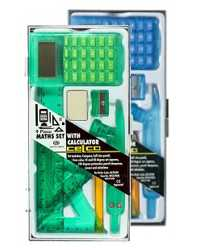 MATHS SET WITH CALCULATOR CELCO 9 PIECE