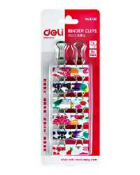 FOLDBACK CLIPS DELI 19MM CLOURED FRUITS ETC HANGSELL PK12