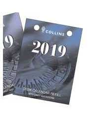 DESK CALENDAR REFILL 2019 COLLINS DTP TOP PUNCH