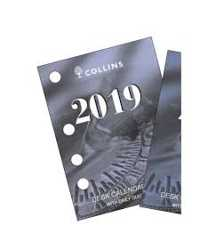 DESK CALENDAR REFILL 2019 COLLINS DTP SIDE PUNCH