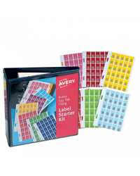 ASSORTED COLOUR TOP TAB COLOUR CODE LABELS KIT 20 x 30 MM