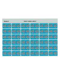 AVERY MONTH 'AUG' SIDE TABCODING LABELS LIGHTBLUE 23x38MM PK180