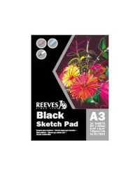 PAD REEVES A3 BLACK PAPER 140GSM FSC MIX