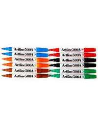 MARKER WHITEBOARD ARTLINE 500A 2MM BULLET NIB ASST COLOURS WLT6