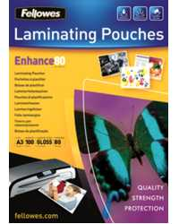 LAMINATING POUCH A3 FELLOWES 80 MICRON GLOSS PK25