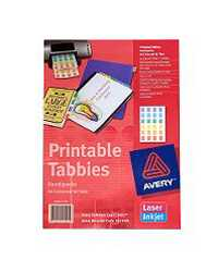 DIVIDER TABBIES AVERY PRINTABLE L7431 48 TABS ASST COLOURS