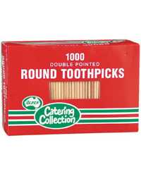 TOOTHPICKS ALPEN ROUND DOUBLE POINTED BX1000