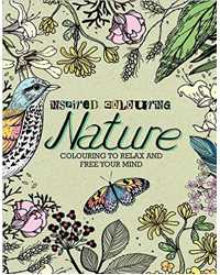 BOOK COLOURING ADULT PARRAGON NATURE 270MMX215MM 128 PAGES