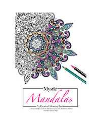 BOOK COLOURING ADULT MYSTIC MANDALAS A4 180GSM 12 PAGES