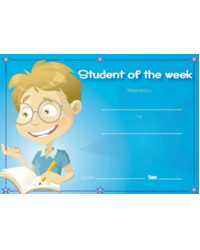 CERTIFICATE MERIT AVERY STUDENT OF THE WEEK H/S PK36