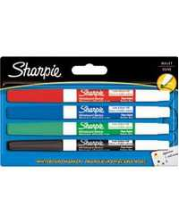 MARKER WHITEBOARD SHARPIE AP013204 FINE 1.4MM ASSORTED PK4