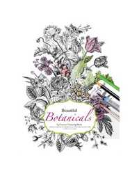 BOOK COLOURING ADULT BEAUTIFUL BOTANICALS A4 180GSM WATER COLOUR