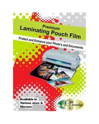 LAMINATING ID POUCH 64x108MM FELLOWES 125 MICRON GLOSS PK100