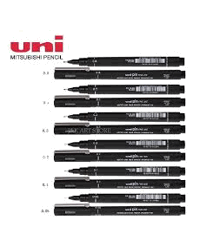PEN DRAWING UNI PIN 200 FINE LINE 12 PIECE ASSORTED BLACK BX12