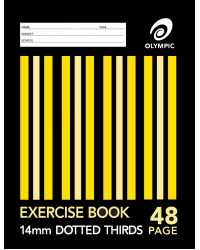 EXERCISE BOOK 9x7 STRIPE 48PG 14MM D/3RDS PK20