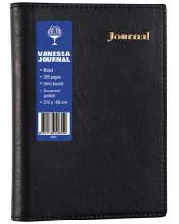 JOURNAL COLLINS VANESSA A5 SPIRAL 200P LINED BLACK