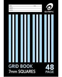 GRID BOOK OLYMPIC 7MM A4 48PG PK20