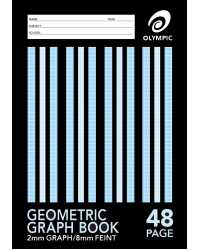 GRAPH BOOK A4 48PG OLYMPIC 2MM PK20