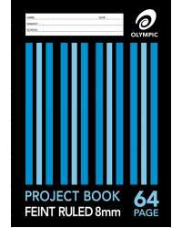 PROJECT BOOK EXERCISE OLYMPIC A4 8MM 64PG PK20