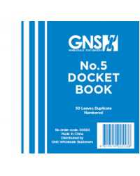 Docket Book No 5 Duplicate 5x4 50LF PK20